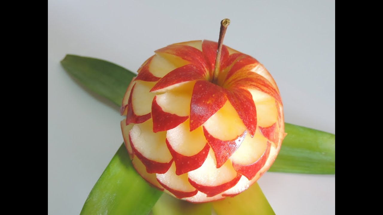 How to make apple sculpture j pereira art carving youtube