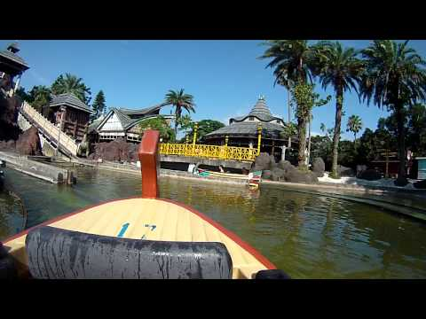 Mighty Mountain Flume Adventure Ride Leofoo Village Theme Park Taiwan Front Row POV
