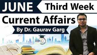 June 2018 current affairs in English Third week set 1 - IBPS/SSC CGL/CHSL/LDC/Police/KVS/UGC/CLAT