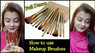 How to use makeup brushes in hindi | Full Demo | 2nd Part | beginners makeup guide