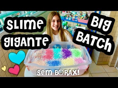FIZ SLIME GIGANTE SEM BÓRAX + 15KG ! BIG BATCH SLIME ! SUPER FLOAM SLIME ! SUPER CRUNCHY SLIME !