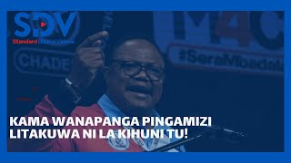 Lissu\'s fiery speech after getting go-ahead to face incumbent President Magufuli in October polls