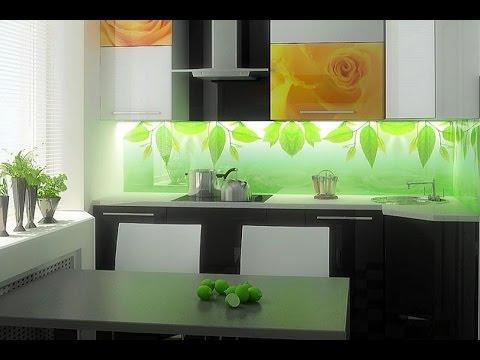 Дизайн кухни:  фартук из стекла – скинали