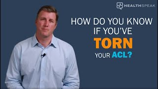 Is Your ACL Torn?