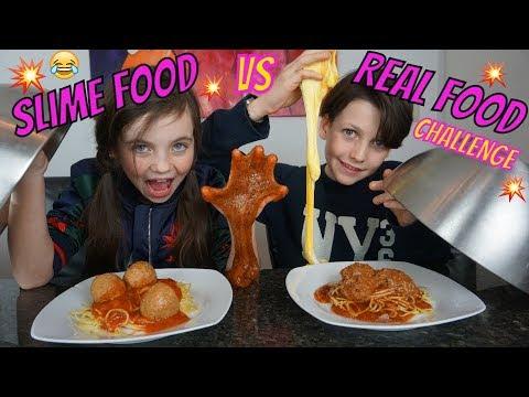 SLIME FOOD vs REAL FOOD CHALLENGE - Bibi