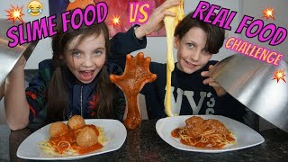 SLIME FOOD vs REAL FOOD CHALLENGE - Bibi