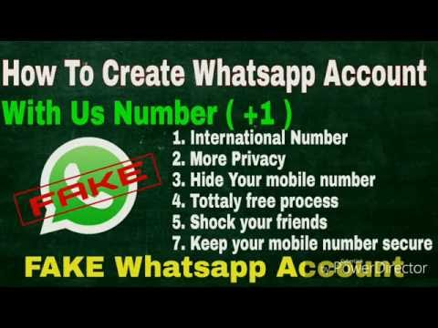 How To Create Fake Whatsapp Account With International Number -100%  Working Wethod 2016