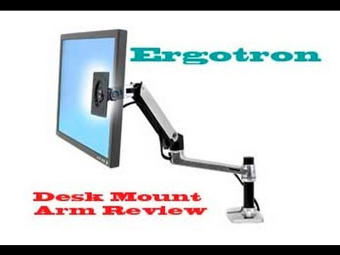 lx desk monitor screen mount lcd arm review ergotron tall pole rh youtube com