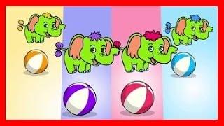 Piosenki dla dzieci Cztery słonie zielone słonie BZYK.tv