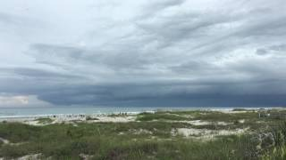 Cocoa Beach Thunderstorm Moves Over The Ocean in 4k UHD