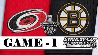 Carolina Hurricanes Vs Boston Bruins  Third Round  Game 1  Stanley Cup 2019  Обзор матча