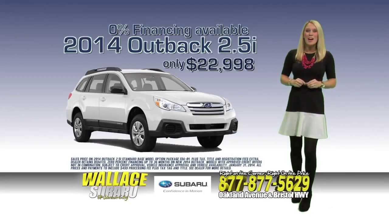 Subaru Johnson City >> Wallace Subaru Of Johnson City 2014 All In Outback Sale Youtube