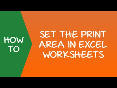 How to Set the Print Area in Excel Worksheets