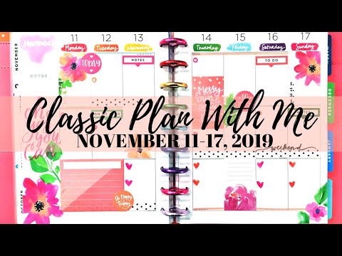 PLAN WITH ME | Classic Social Media Happy Planner | November 11-17, 2019