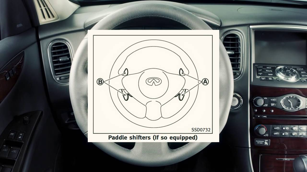 Using the paddle shift (if equipped)