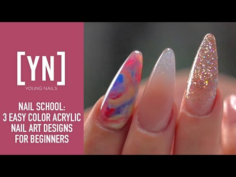 3 Easy Color Acrylic Nail Art Designs for Beginners thumbnail