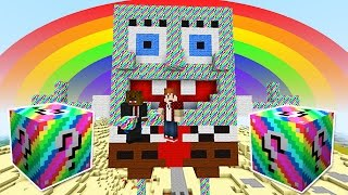 lucky rainbow blocks spongebob bikini bottom mod challenge minecraft modded mini game