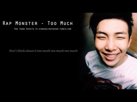 [ENG SUB] Rap Monster - Too Much Diana TvSanders