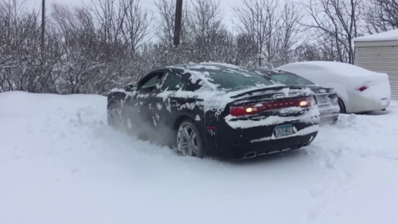 2013 Dodge Charger Rt Awd In The Snow Part 2 Youtube