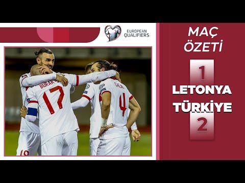 2022 Dünya Kupası Elemeleri | Letonya-Türkiye (ÖZET) 90+9'da gelen müthiş galibiyet...