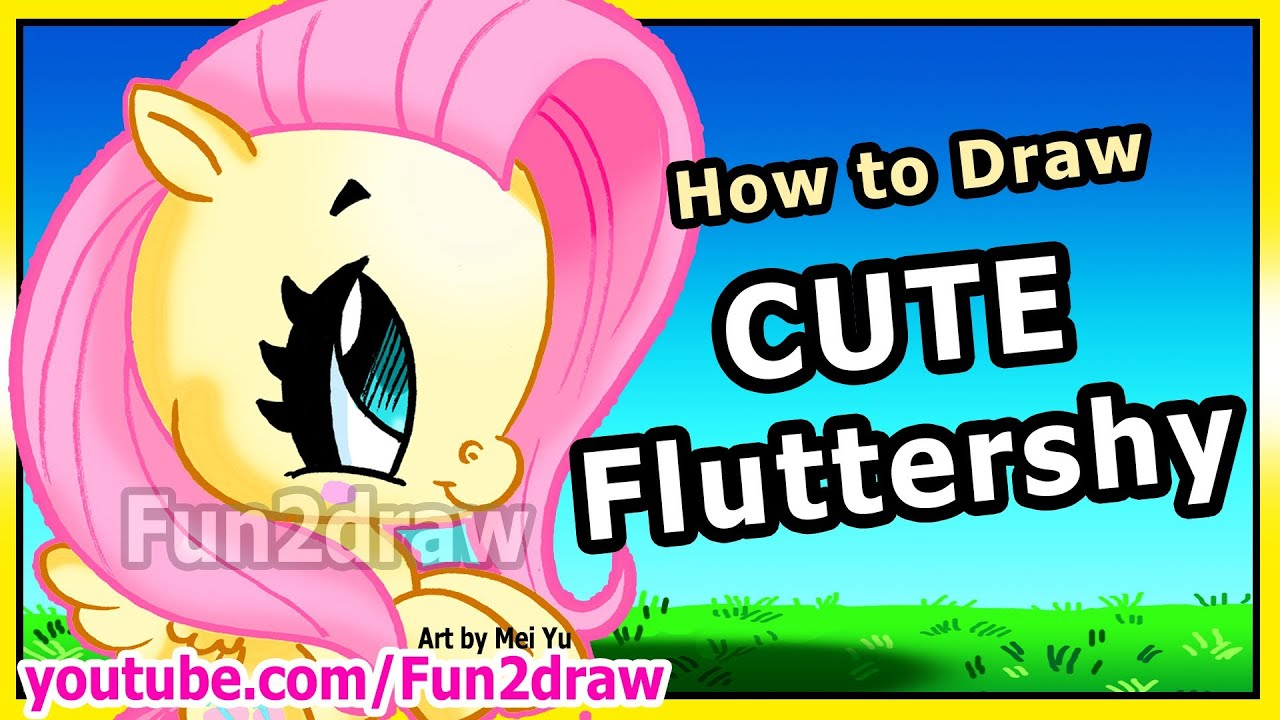 How To Draw My Little Pony Fluttershy  Easy Things To Draw  Art Lessons  By Fun2draw  Youtube