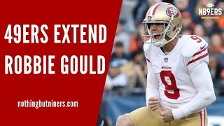 breaking news 49ers sign k robbie gould to long term deal