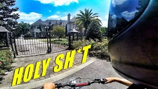 Pit Bike Adventures | Finding A Huge Mansion!