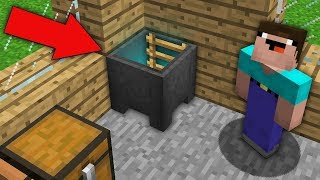 Minecraft NOOB vs PRO : WHERE DOES THIS SECRET PASSAGE IN THE CAULDRON? Challenge 100% trolling