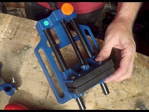 Drill press vice - and bench vice