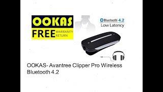 OOKAS- Avantree Clipper Pro Wireless Bluetooth 4.2 aptX LOW LATENCY Audio/Music Receiver