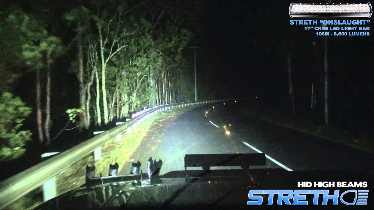 Streth 4x4 led light bars midnight run youtube mozeypictures Images