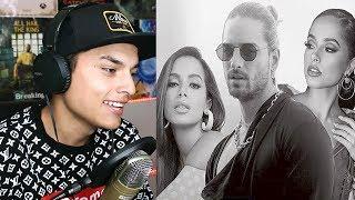 Reacciono😱 A Maluma, Becky G, Anitta - Mala Mía🔥  -   Themaxready