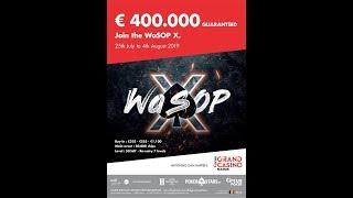 WaSOP X Main Event Final Day - Grand Casino de Namur Cards up animé par Will Lion