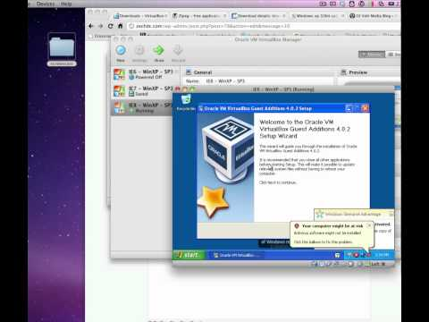 Install Internet Explorer 6, 7 & 8 on Mac OSX Using VirtualBox