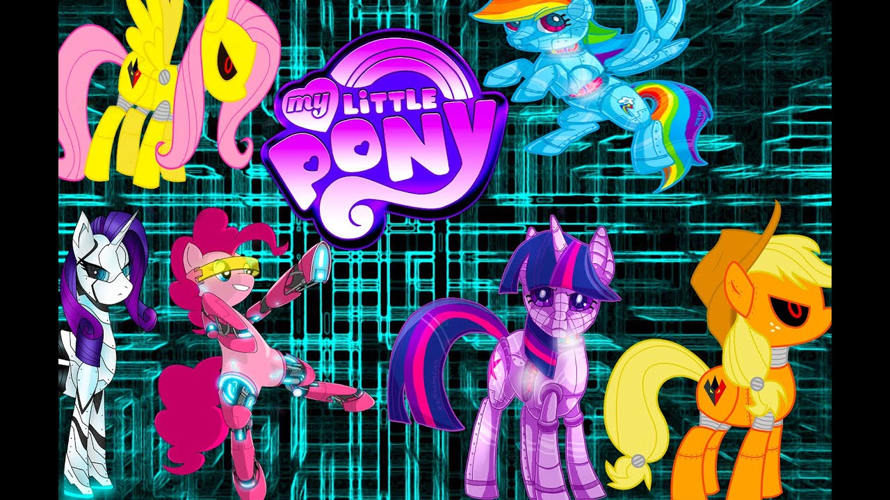 My Little Pony Mane 6 Transforms Into Robots Mlp Coloring
