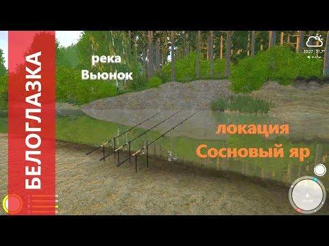 Русская рыбалка 4 - река Вьюнок - Белоглазка и другие рыбы