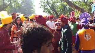 wedding bharat punjabi dhol wala & bhangra dancers & D J sound  nitinbedi 9892833280
