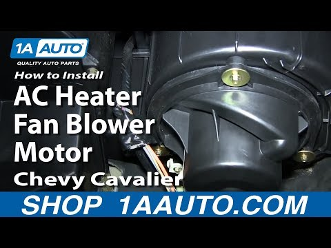 how to replace heater blower motor with fan cage 95-02 chevy cavalier -  youtube