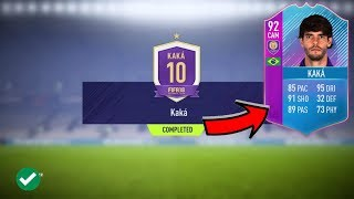FIFA 18 - 92 END OF AN ERA KAKA SBC CHEAPEST WAY / COMPLETED!