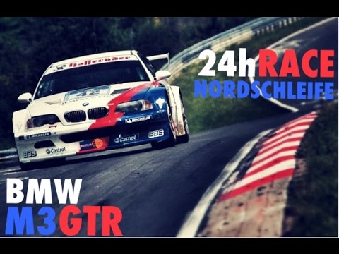 BMW M3 GTR (E46) onboard with H.J. Stuck at the 24h Race at the Nürburgrung Nordschleife