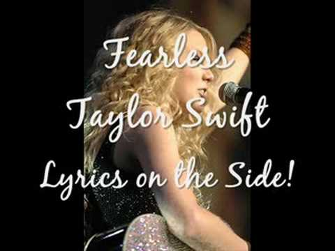Fearless Lyrics Taylor Swift