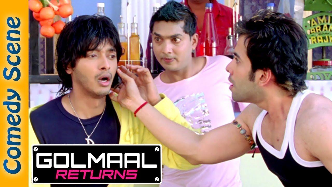 Shreyas Talpade Comedy Scene - Golmaal Returns Movie - Ajay Devgan - Tusshar Kapoor