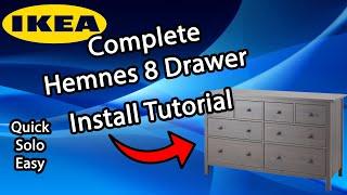 Easy And Solo Ikea Hemnes 8 Drawer Dresser Tutorial