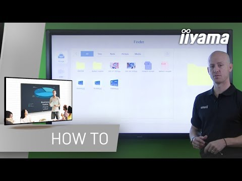 Using the File Finder - The iiyama 68-series interactive display explained