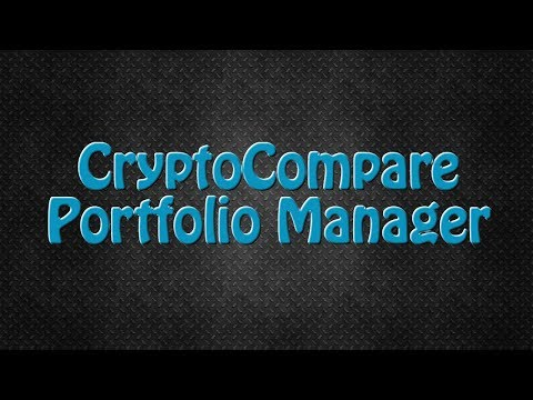 How To Manage Your Crypto Portfolio With CryptoCompare