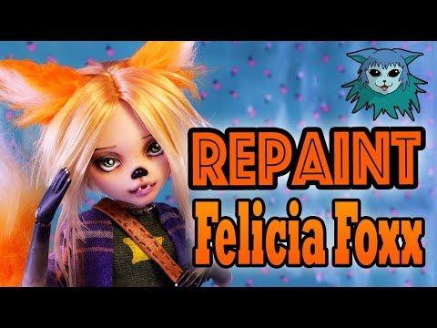 Doll Repaint: Felicia Foxx Ooak Draculaura