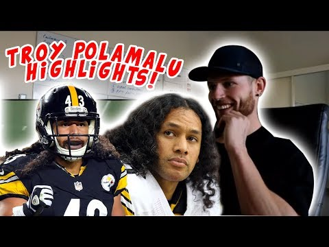 Rugby Player Reacts to TROY POLAMALU NFL Highlights YouTube Video