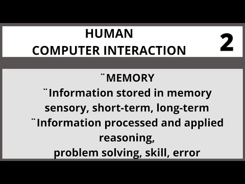 Human Computer Interaction Lecture 2 in Urdu| Hindi I Vcomsat