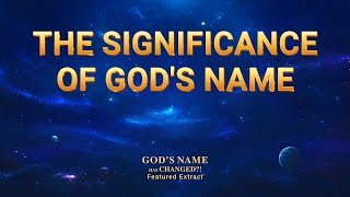 "Gospel Movie Extract 2 From ""God's Name Has Changed?!"": The Significance of God's Name"