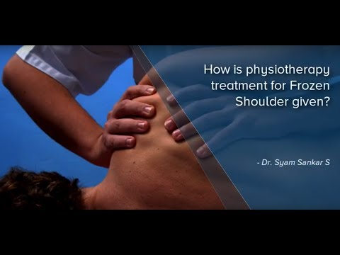 Physiotherapy treatment for Frozen Shoulder | Portea Medical
